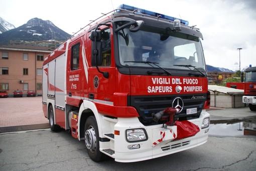 Incendio nell'ex casa cantoniera a La Thuile